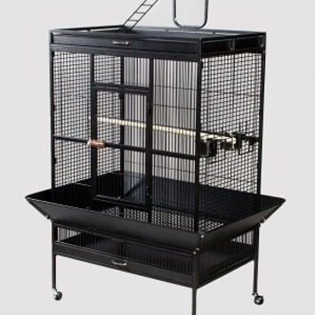 BIRD - CAGES: LARGE BIRDS - PARROT WROUGHT IRON CAGE 36X24X66 - BLACK - 2BOX - PREVUE PET PRODUCTS, INC - UPC: 48081315415 - DEPT: BIRD PRODUCTS