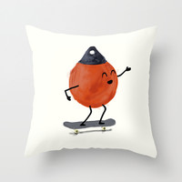 Skater Buoy Throw Pillow by David