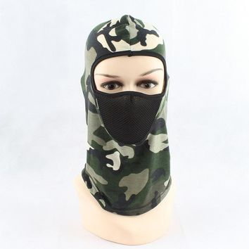 camo hat mask balaclava hats caps men army outdoor sports camouflage riding headgear windproof Full Face Realtree Camouflage