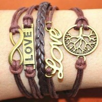 Retro tree love multilayer bracelet