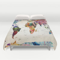 map Duvet Cover by Mark Ashkenazi