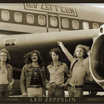 Led Zeppelin Plane Music Poster