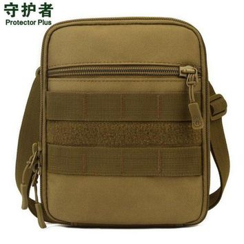 ICIKUH3 Protector Plus A007 Outdoor Sports Bag Camouflage Nylon Tactical Military Molle EDC Pouch Hiking Cycling Messenger Bag