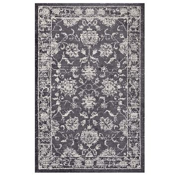 Kazia Distressed Persian Medallion 8x10 Area Rug
