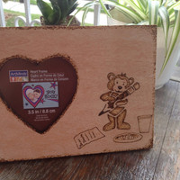 Teddy Bear  Christmas List Stencil Picture Frame