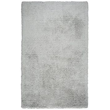 Commons Collection Hand-Tufted Area Rug, 8' x 10', Silver By Rizzy Home