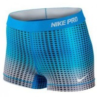 "Blue Glow/Wolf Gray Nike Pro 2.5"" Spandex - Player's Edge - Wisconsin"