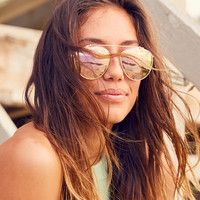 Aerie So Fly Aviator Sunnies, Rose Gold