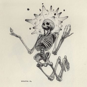 """Skeleton"" - Art Print by Charles Lister"