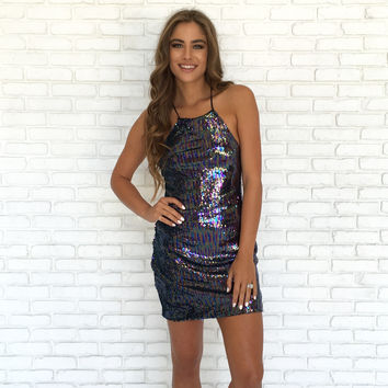 Lock Away Sequin Dress