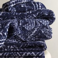 Indigo Batik Towel by Fresco Towels Blue