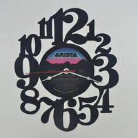 Handmade Vinyl Record Wall Clock Hanging Clock  (artist is Aretha Franklin)