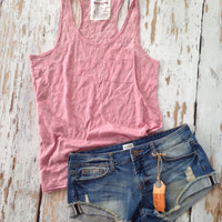 Burnout Tank (Dusty Pink)