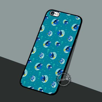 Finding Dory Pattern - iPhone 7 6 5 SE Cases & Covers #cartoon #animated #FindingNemo