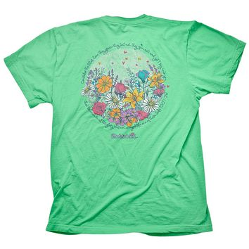 Cherished Girl Consider the Lillies Girlie Christian Bright T Shirt