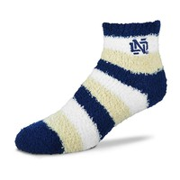 For Bare Feet Notre Dame Fighting Irish Pro Stripe Slipper Socks - Women