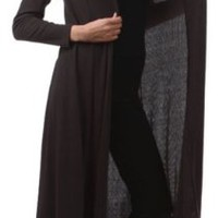 Funfash Black Ribbed Long Cardigan Duster Sweater Jacket New Plus Size 1x 18 20