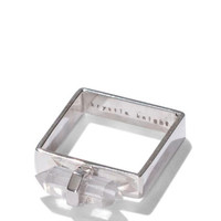 Echo Square Ring - Sterling Silver