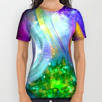 Rainbow space All Over Print Shirt by Haroulita   Society6