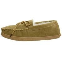Boston Traveler Men's Suede Moccasin Slippers | Overstock.com