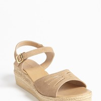 Faux Suede Open-Toe Sandals