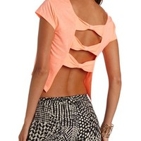 BOW-BACK SOLID CROP TOP