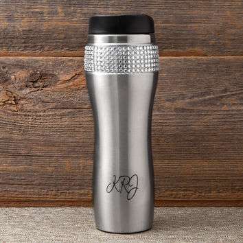 Personalized Bling Travel Mug Tumbler