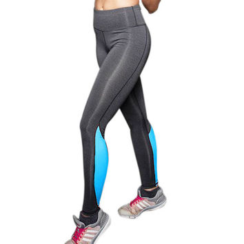 Sport Stitching High Elasticity Fitness Slimming Breathable  Leggings