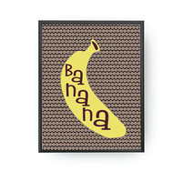Banana Typography, Fruit Lettering, Classroom Art, Learning Poster, Banana Art, Educational Print, Typography Poster, Kids Print, Baby Decor
