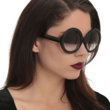 Black Round Half Shade Sunglasses