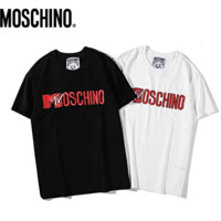 Moschino New fashion bust letter print couple top t-shirt