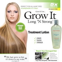 Want Longer Hair? Want Stronger Hair? Grow Hair Fast! Buy Long 'N Strong® Treatment Lotion - Longer