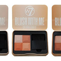 W7 Blush with Me Colour Cubes Blusher Palette - Set of 3 (Getting Hitched, Honeymoon & Cassie Mac)