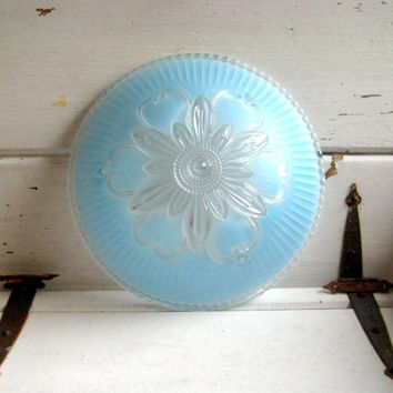 Vintage Gl Light Cover Turquoise Blue Ceiling Fixture
