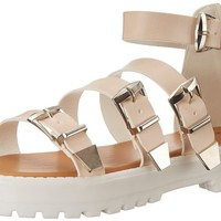 Qupid Women's Array-01 Sandal