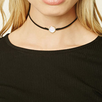 Iridescent Faux Suede Choker