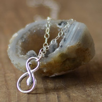 Infinity Snake Necklace in Sterling Silver, Infinity Snake Charm