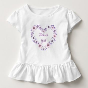 Lilac Floral Heart. Flower Girl. Toddler T-shirt