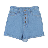 Buttoned Up Roll-Up Shorts