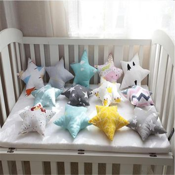 Korean Style Star Pattern Baby Cushion Throw Pillow Office Back Cushion Baby Room Decorative 21*21cm