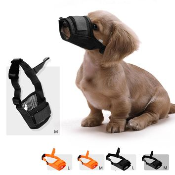 Adjustable Dog Muzzles Mask Breathable Mesh Mouth Cover Anti-biting Anti-barking M/L Mask Grooming Muzzle Anti Stop Chewing