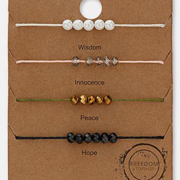 Topshop Beaded Bracelets (Set of 4) | Nordstrom