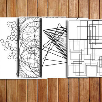 Printable adult coloring pages, geometric. Perfect for these snowy days!