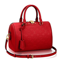 Louis Vuitton Monogram Empreinte Leather Speedy Bandouliere 25 Article:M42399 Made in France