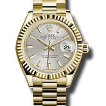 Rolex - Datejust Lady 28 Yellow Gold - Fluted Bezel