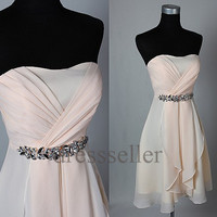 Custom Light Pink Short Bridesmaid Dresses 2014 Bridesmaid Dresses Cheap Prom Dresses Homecoming Dress Cheap Party Dress Evening Dresses