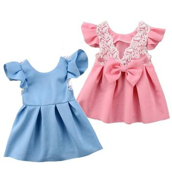 Back-laced Bow Dress
