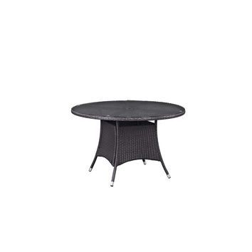 "Espresso Convene 47"" Round Outdoor Patio Dining Table"