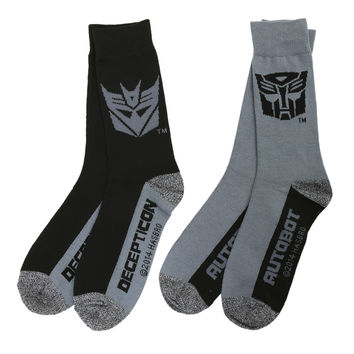 Transformers Autobots Decepticons Crew Socks 2 Pack