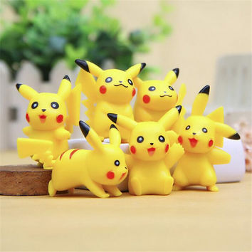Pokemon Pikachu Mini Action Figures Umbreon Espeon Glaceon Vaporeon 5cm Anime Cartoon Collections Toys Dolls